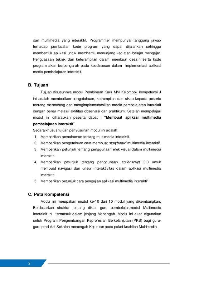3 Gambar 1 Peta kedudukan modul Multimedia Interaktif Tabel 0.2. Peta kompetensi modul guru pembelajarMMKelompok kompetens...