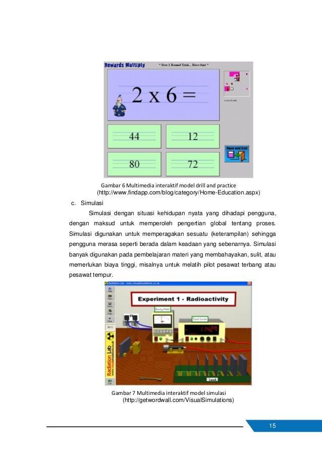 16 d. Instructional games Model ini jika didesain dengan baik dapat memanfaatkan sifat kompetitif pengguna untuk memotivas...
