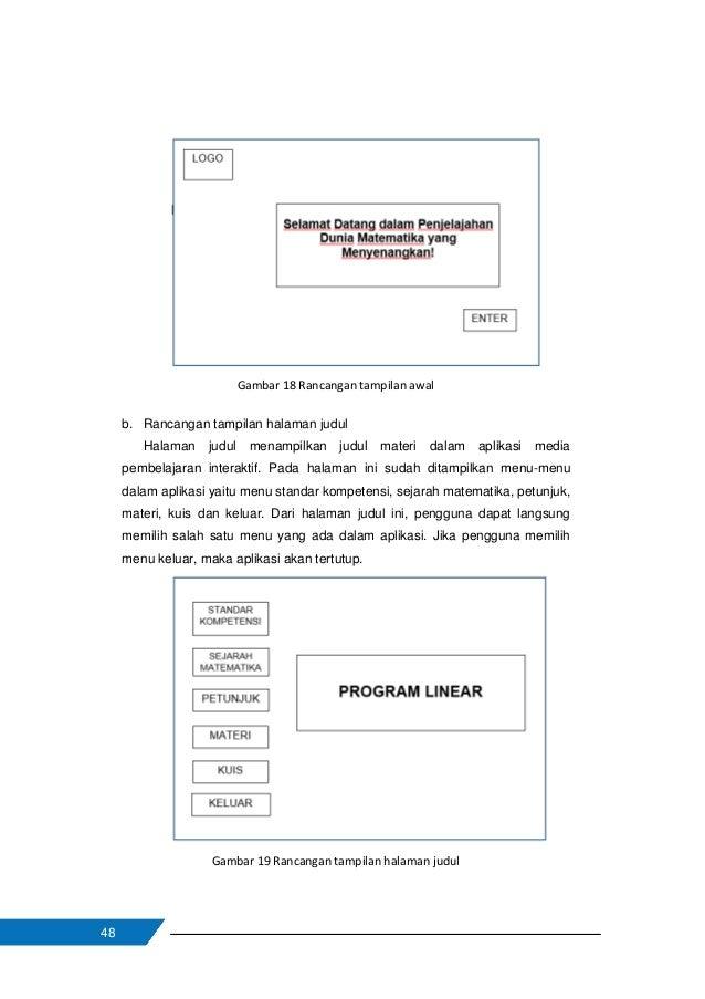 49 c. Rancangan tampilan halaman standar kompetensi Jika pengguna memilih menu standar kompetensi, maka akan tampil halama...