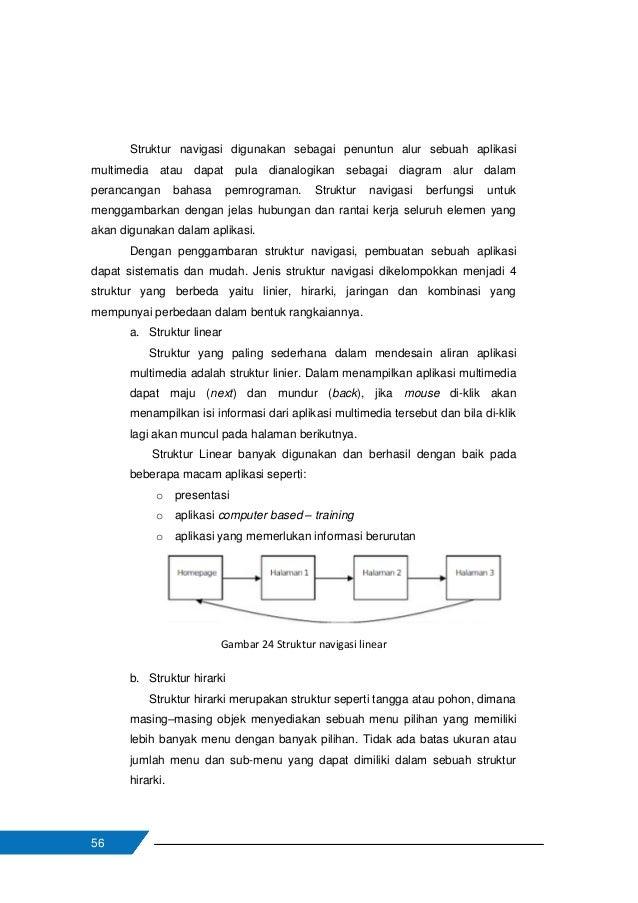 57 Struktur hirarki diadaptasi dari top – down design. Konsep navigasi ini dimulai dari satu node yan menjadi halaman utam...
