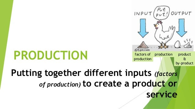 different types of factors of production Costs of production are the most important force governing the supply of a product a firm chooses a combination of factors which minimizes its cost of production for a given level of output production of a commodity involves expenses to be incurred on different factors it is the sum total of .