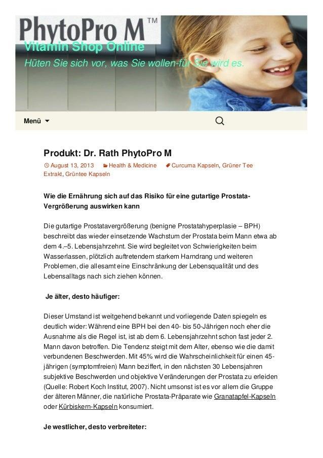 Vitamin Shop Online Hüten Sie sich vor, was Sie wollen-für Sie wird es. Menü  Produkt: Dr. Rath PhytoPro M August 13, 20...