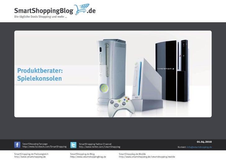 Produktberater für Spielekonsolen des SmartShoppingBlog.de