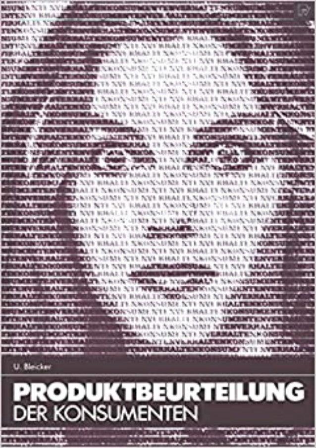 [READ PDF] Produktbeurteilung der Konsumenten.. Eine psychologische Theorie der Informationsverarbeitung. (Konsum und Verh...