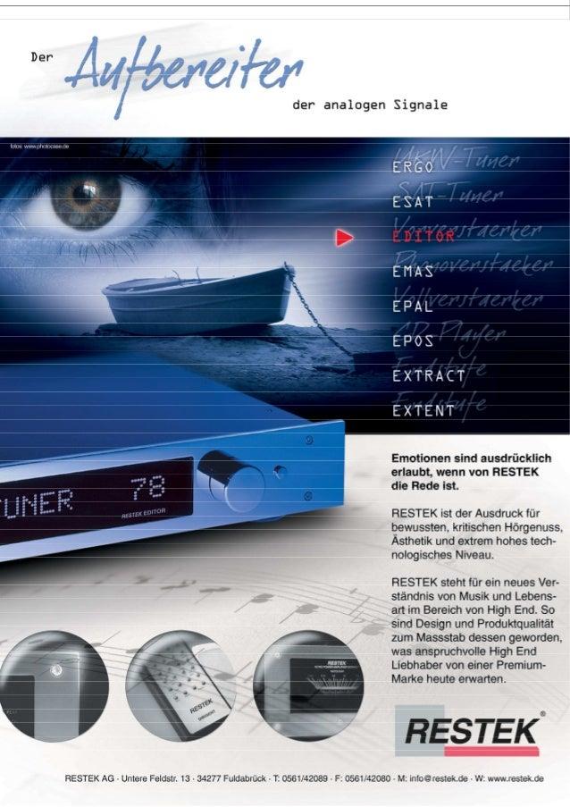 Produktblatt RESTEK EDITOR Vorverstärker