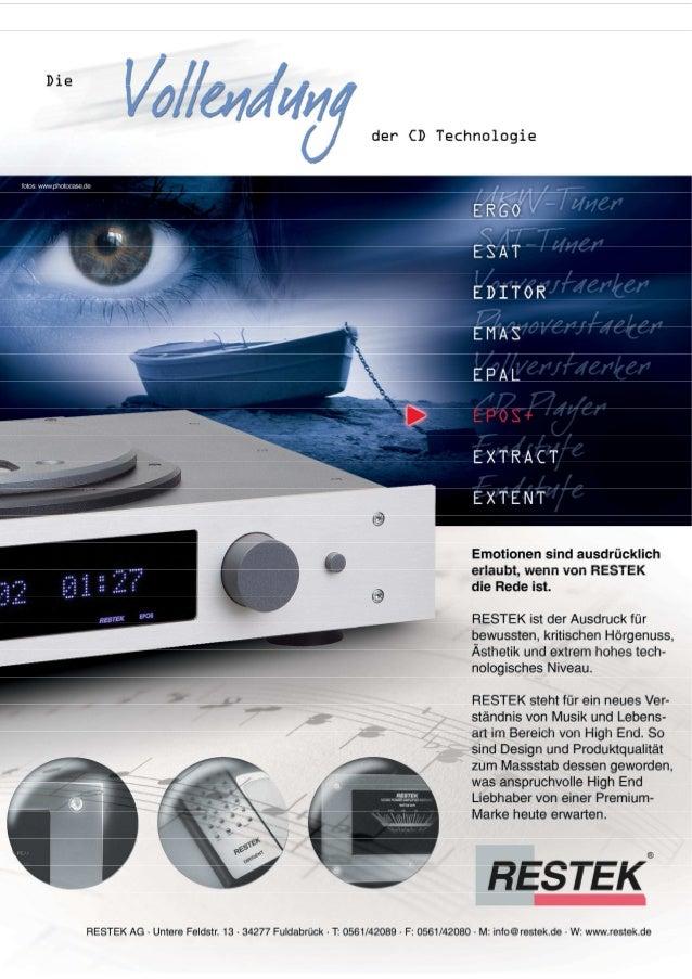 Produktblatt RESTEK EPOS CD-Spieler