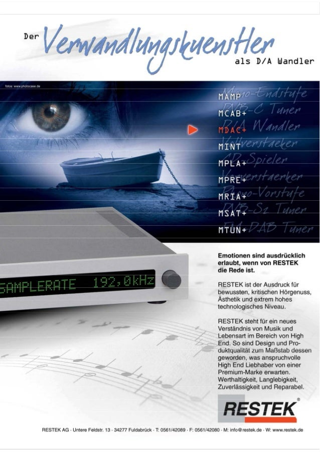 Produktblatt RESTEK MDAC+ Digitalvorverstärker