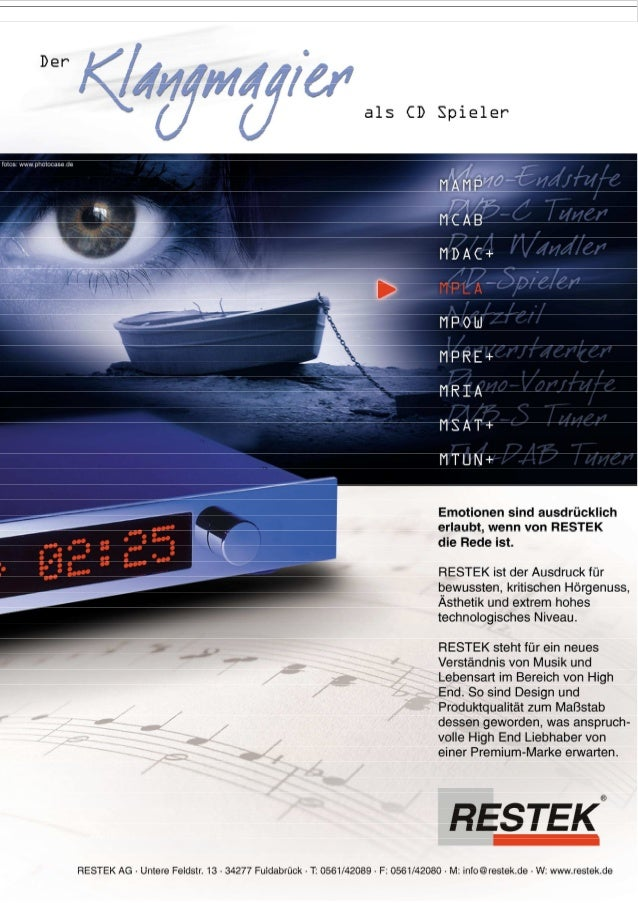 Produktblatt RESTEK MPLA CD-Spieler