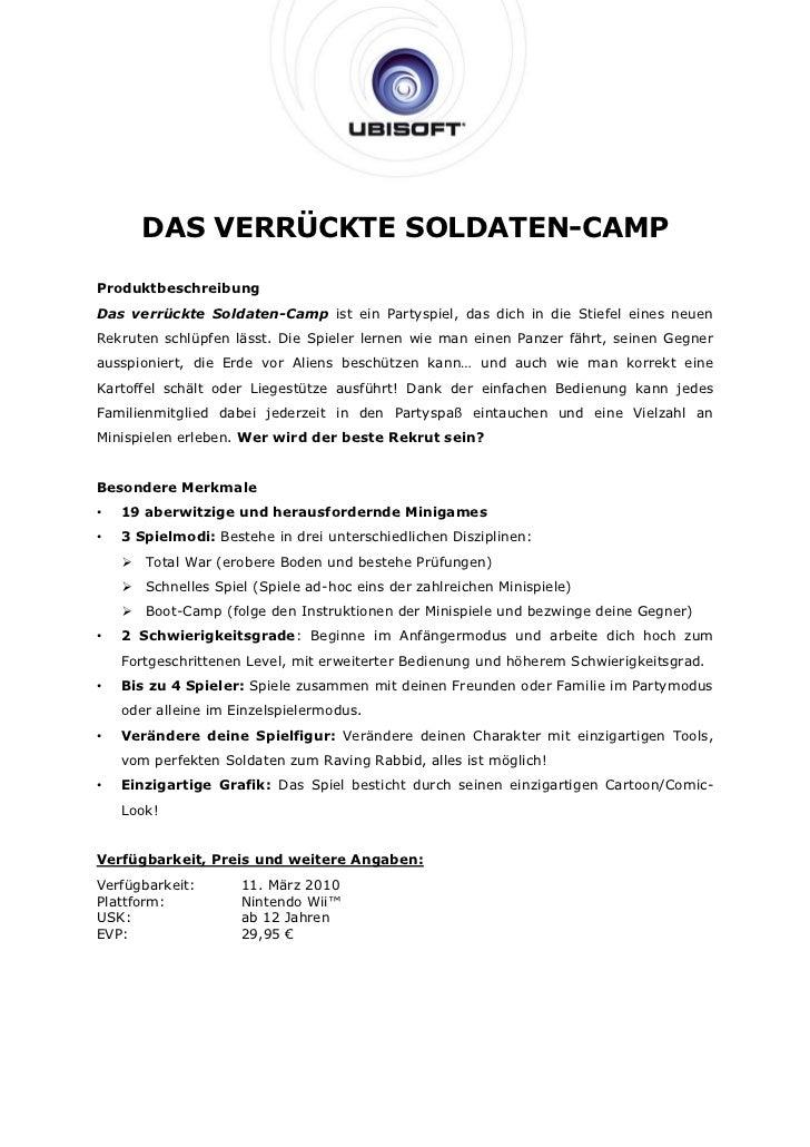 DAS VERRÜCKTE SOLDATEN-CAMPProduktbeschreibungDas verrückte Soldaten-Camp ist ein Partyspiel, das dich in die Stiefel eine...