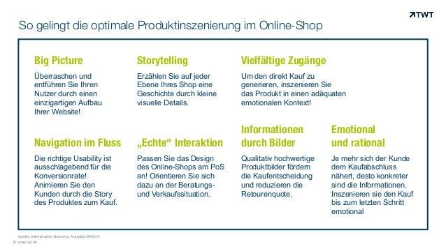 So gelingt die optimale Produktinszenierung im Online-Shop © www.twt.de Big Picture Überraschen und entführen Sie Ihren Nu...