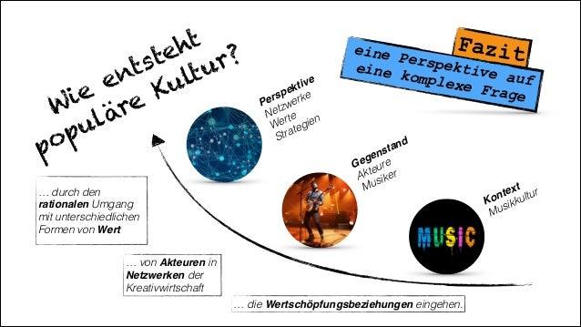 Wie entsteht populäre Kultur? Kontext Musikkultur Gegenstand Akteure Musiker Perspektive! Netzwerke Werte Strategien ...