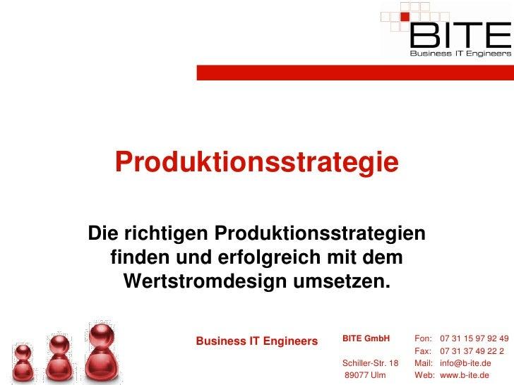 Produktionsstrategie  Die richtigen Produktionsstrategien   finden und erfolgreich mit dem     Wertstromdesign umsetzen.  ...