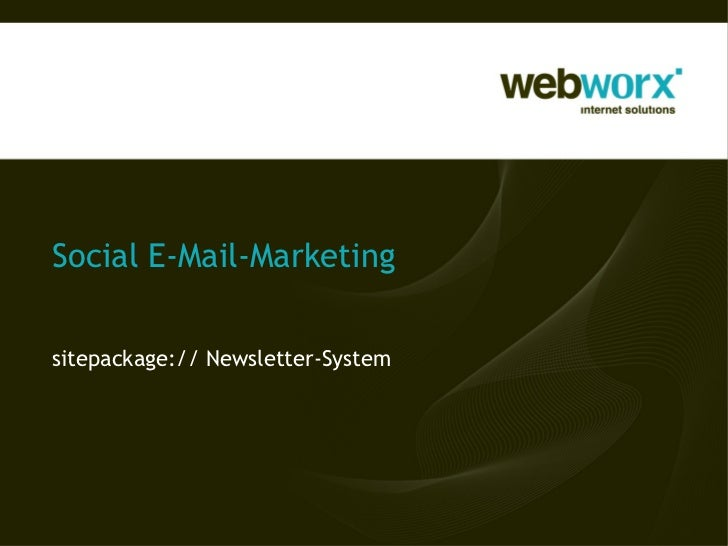Social E-Mail-Marketingsitepackage:// Newsletter-System