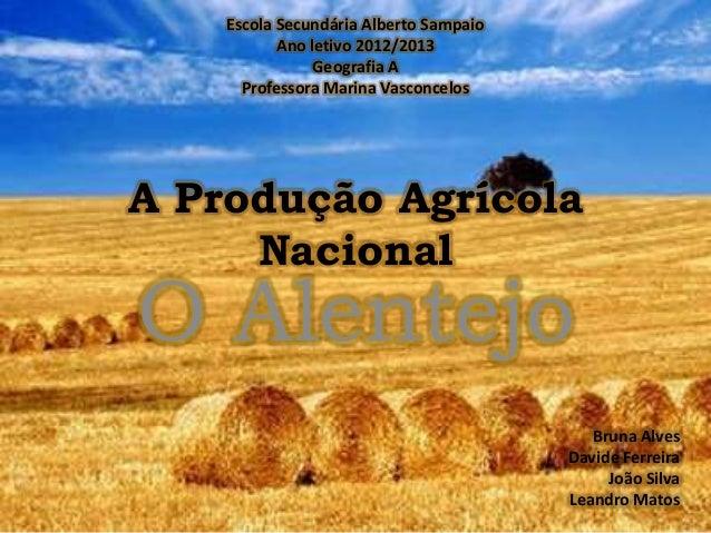 Escola Secundária Alberto Sampaio           Ano letivo 2012/2013                Geografia A      Professora Marina Vasconc...