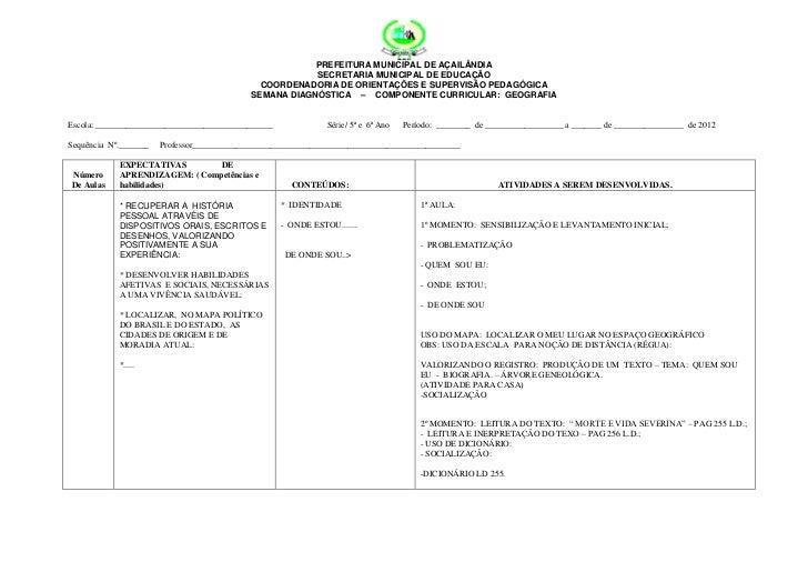 PREFEITURA MUNICIPAL DE AÇAILÂNDIA                                                        SECRETARIA MUNICIPAL DE EDUCAÇÃO...