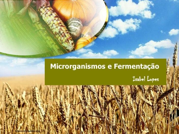 Microrganismos e Fermentação                      Isabel Lopes