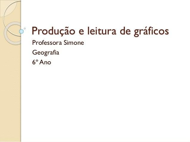 Produção e leitura de gráficos Professora Simone Geografia 6º Ano