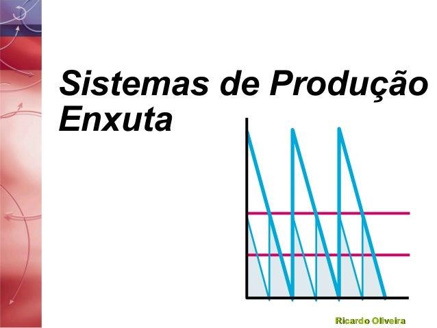 Ricardo OliveiraRicardo Oliveira Sistemas de Produção Enxuta