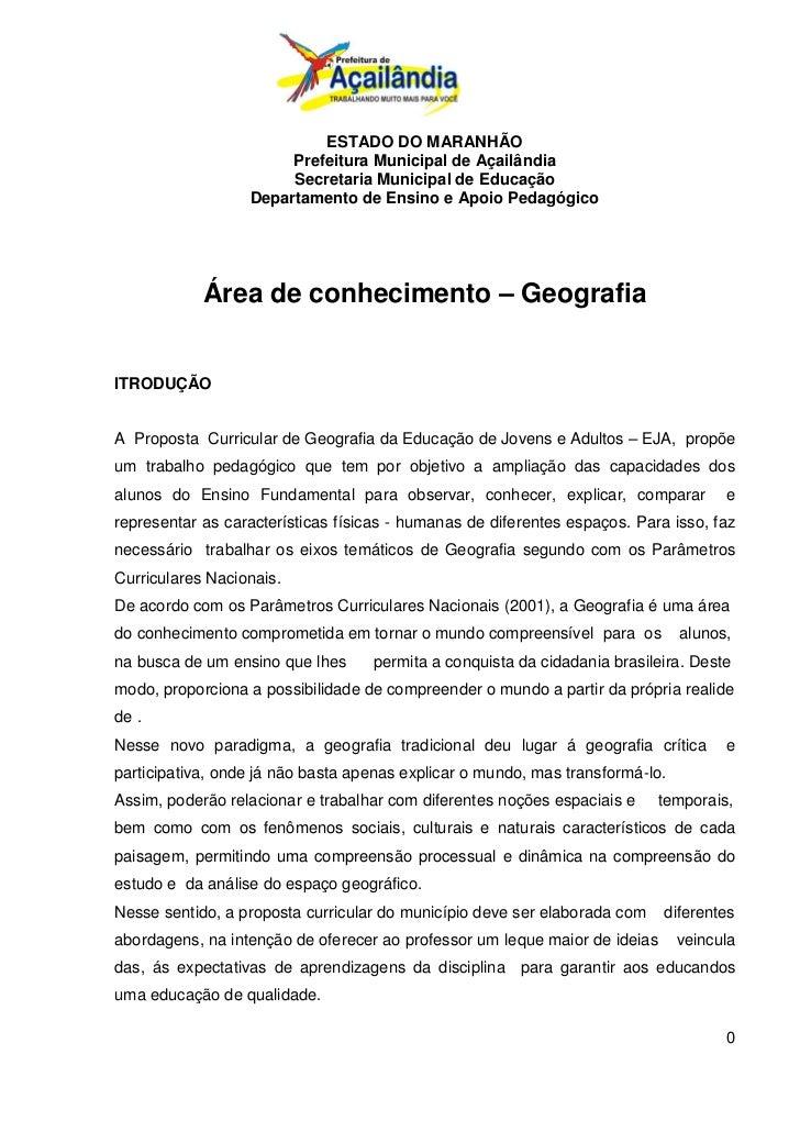 ESTADO DO MARANHÃO                       Prefeitura Municipal de Açailândia                       Secretaria Municipal de ...