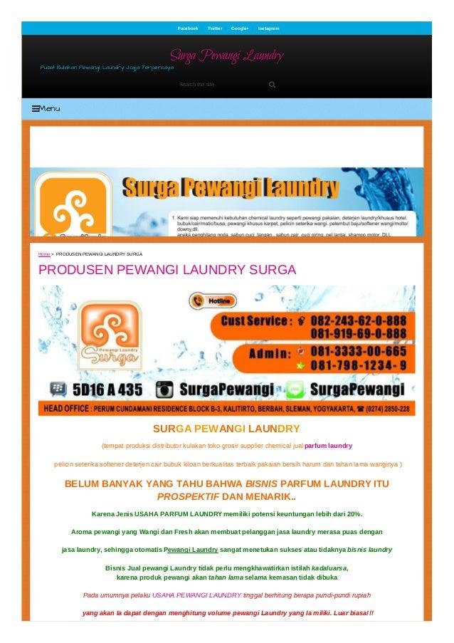 SURGA PEWANGI LAUNDRY (tempat produksi distributor kulakan toko grosir supplier chemical jual parfum laundry pelicin seter...