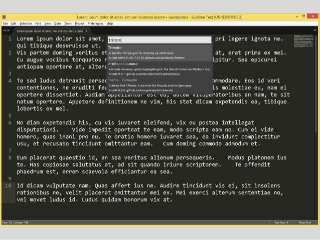 Produtividade usando sublime text