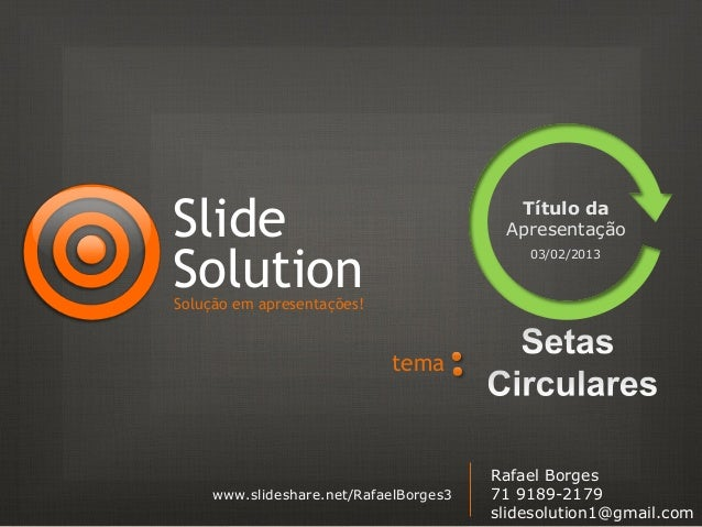 Slide                                    Título da                                        ApresentaçãoSolution            ...