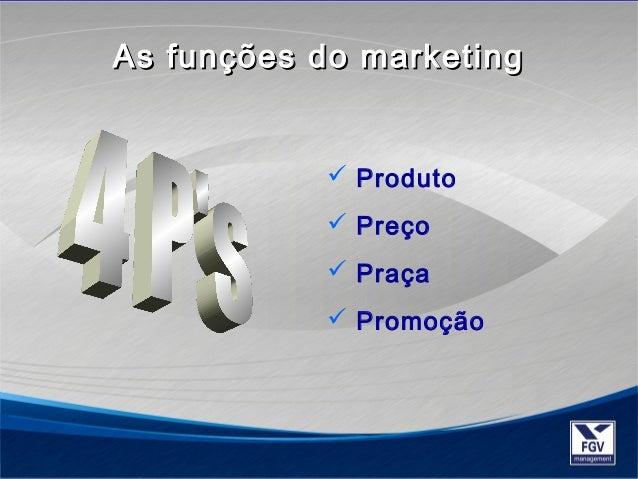 As funções ddoo mmaarrkkeettiinngg   Produto   Preço   Praça   Promoção