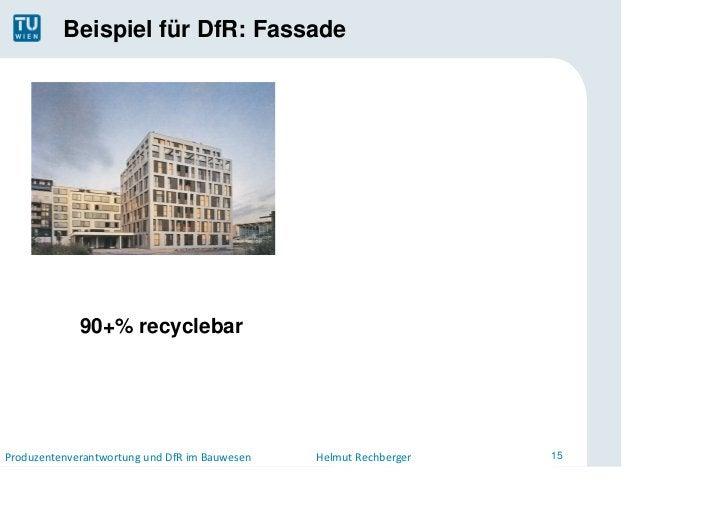Beispiel für DfR: Fassade                                                             AufbauLeichtbaufassade             ...