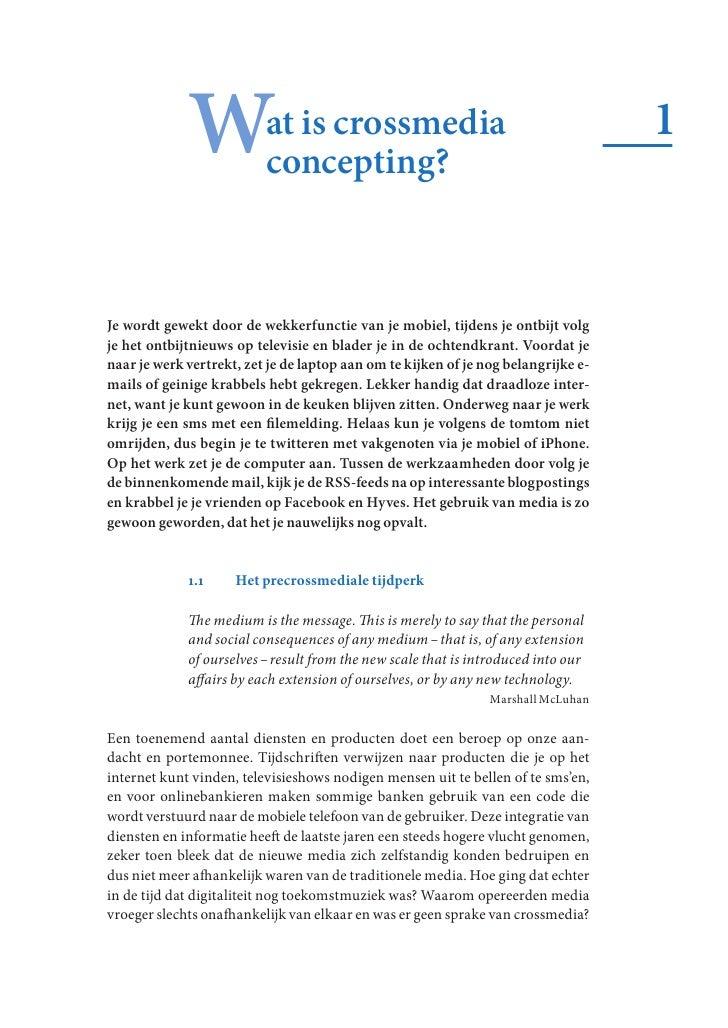 Wat is crossmedia               concepting?                                                                               ...