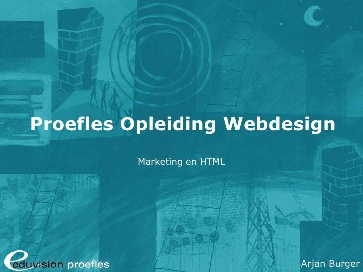 Proefles Opleiding Webdesign Marketing en HTML