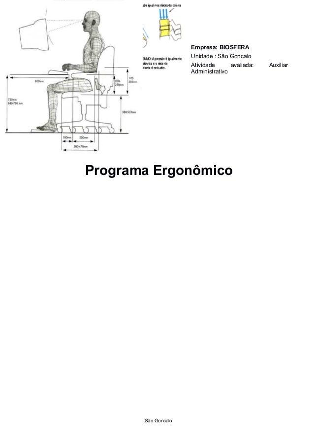 Empresa: BIOSFERA                     Unidade : São Goncalo                     Atividade      avaliada:   Auxiliar       ...