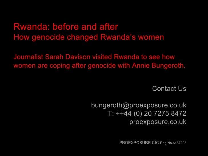 Contact Us [email_address] T: ++44 (0) 20 7275 8472 proexposure.co.uk PROEXPOSURE CIC  Reg No 6487298 Rwanda: before and a...