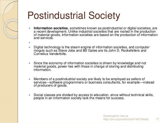 sociology family in the pre industrial Industrial society,pre industrial society,types of society sociology app industrial society the industrial mode of production began some 250 years ago in.
