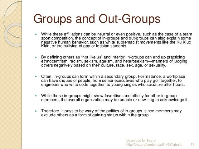 examples of secondary groups in sociology