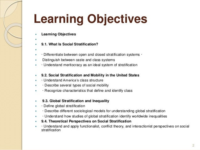 stratifications and social mobility in united states sociology essay Social mobility is the movement of individuals, families, households, or other categories of people within or between social strata in a society it is a change in social status relative to one's current social location within a given society.