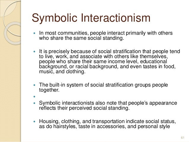 because of social stratification