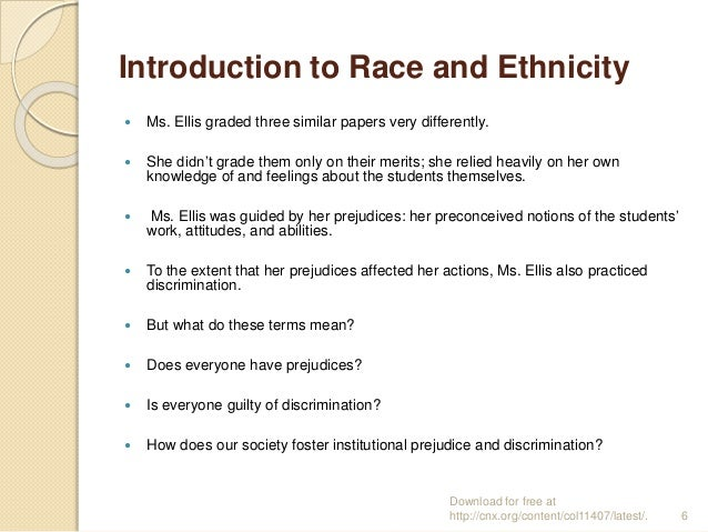 race and ethnicity introduction to sociology essay Members of ethnic or racial groups, may also consider it necessary to have their   and religion – concepts that form part of the definition of some of the above   gerth, hans and c wright mills, from max weber: essays in sociology, new.