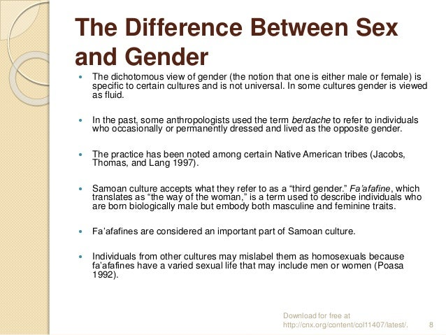 difference between the sex