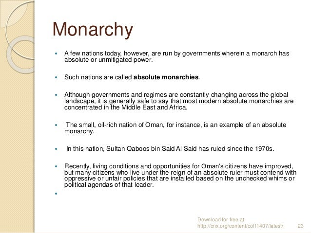 absolute monarchy essay Find essays and research papers on absolute monarchy at studymodecom we've helped millions of students since 1999 join the world's largest study community.