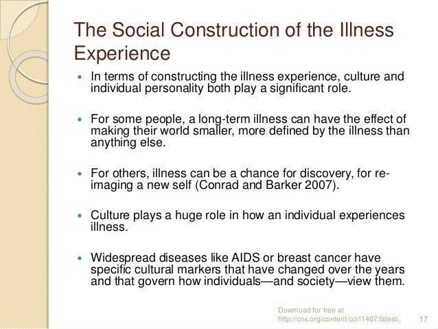 Health, Disease, and Illness