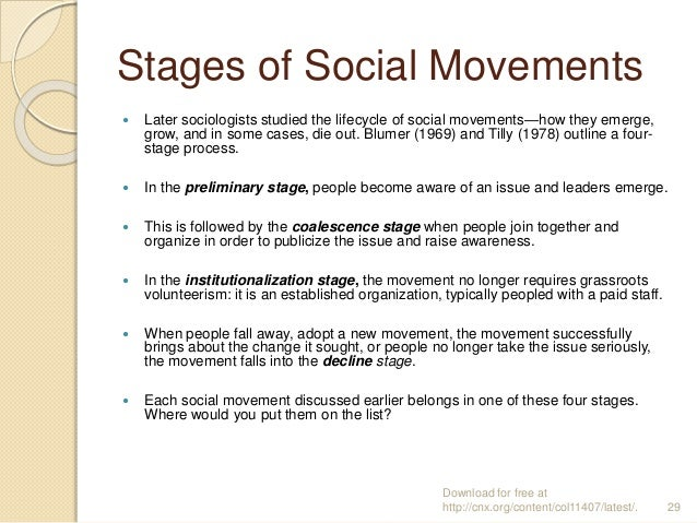social movements and trends The multilinearity of protest: understanding new social movements through their  events, trends and routines melbourne: rmit university.