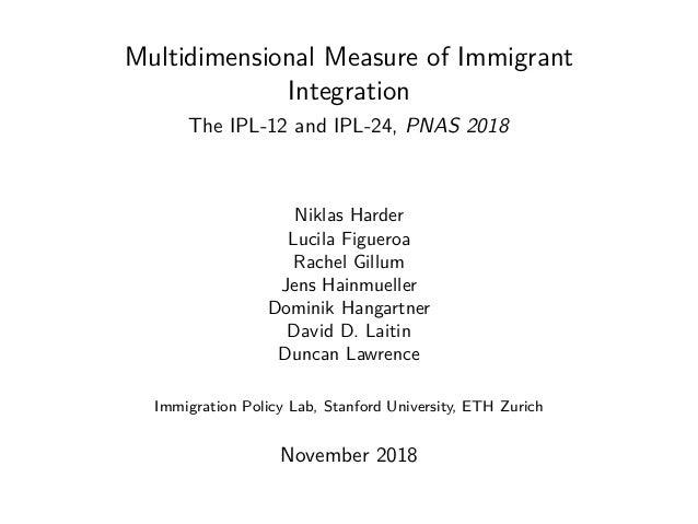Multidimensional Measure of Immigrant Integration The IPL-12 and IPL-24, PNAS 2018 Niklas Harder Lucila Figueroa Rachel Gi...