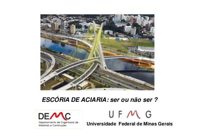 ESCÓRIA DE ACIARIA: ser ou não ser ? Universidade Federal de Minas Gerais