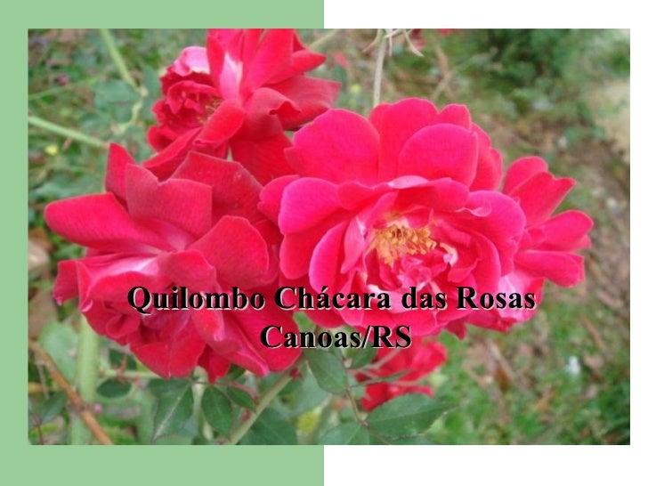 Quilombo Chácara das Rosas  Canoas/RS