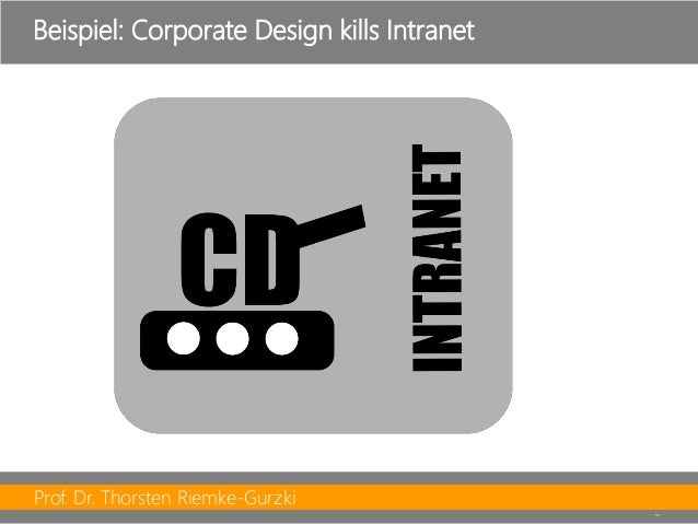 Prof. Dr. Thorsten Riemke-Gurzki  30  Beispiel: CorporateDesign killsIntranet