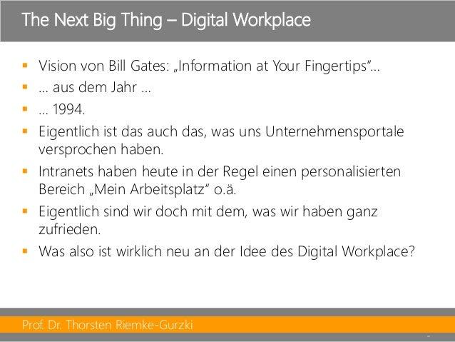 """Prof. Dr. Thorsten Riemke-Gurzki  40  Vision von Bill Gates: """"Information at YourFingertips""""…  … aus dem Jahr …  … 1994..."""