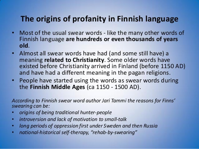 Finnish Swear Words