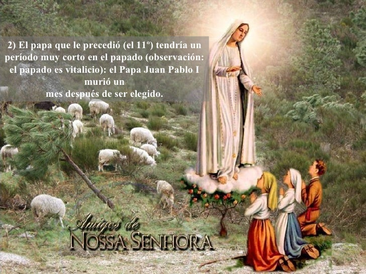 Profeciade Maria en Fatima Slide 3