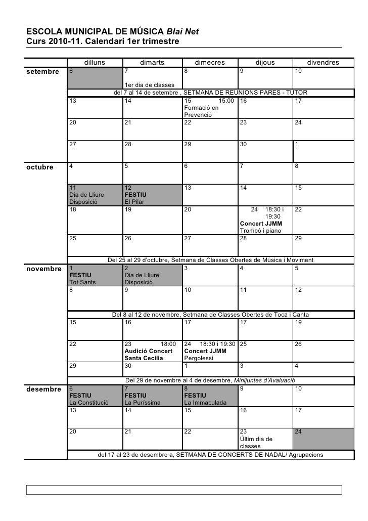 Calendari claustre 2011