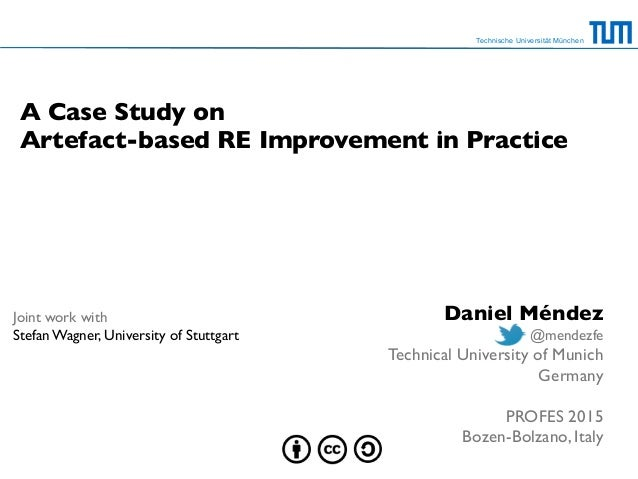 A Case Study on Artefact-based RE Improvement in Practice